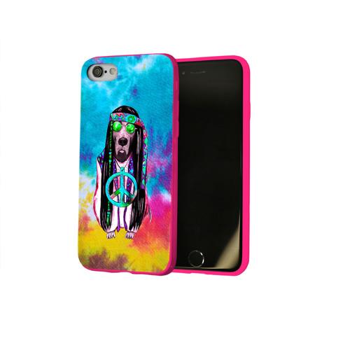 Чехол для Apple iPhone 8 силиконовый глянцевый Хиппи 9 Фото 01