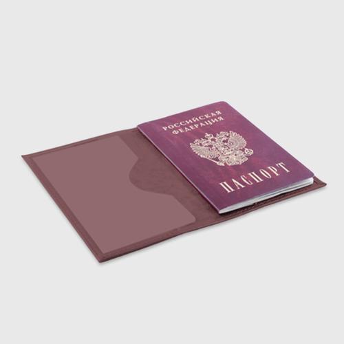 Обложка для паспорта матовая кожа Хиппи 9 Фото 01