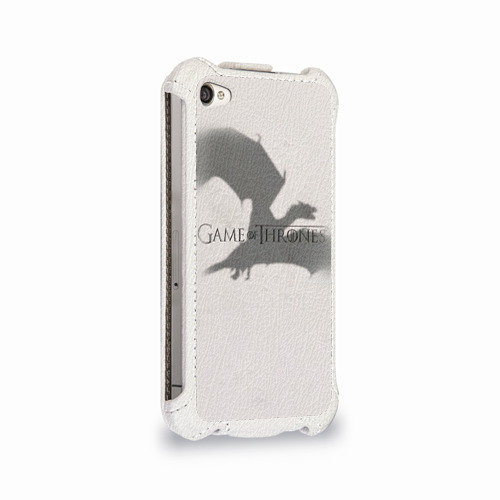 Чехол для Apple iPhone 4/4S flip  Фото 02, Дракон