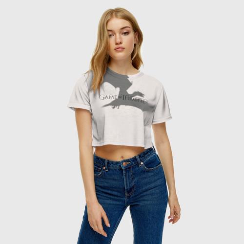 Женская футболка 3D укороченная  Фото 04, Дракон