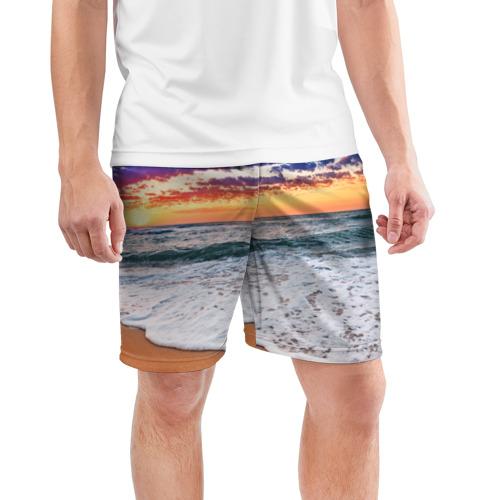 Мужские шорты 3D спортивные  Фото 03, Красивый закат
