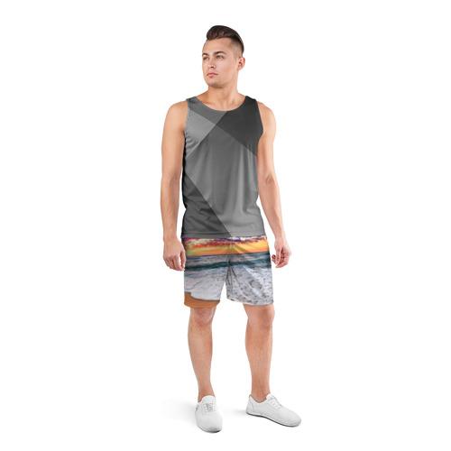 Мужские шорты 3D спортивные  Фото 04, Красивый закат