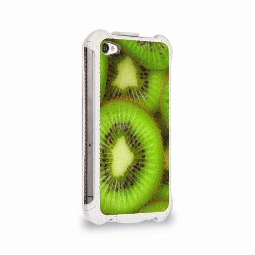 Чехол для Apple iPhone 4/4S flip  Фото 02, Киви