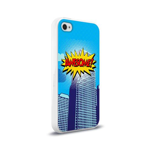 Чехол для Apple iPhone 4/4S силиконовый глянцевый  Фото 02, Поп-арт 2