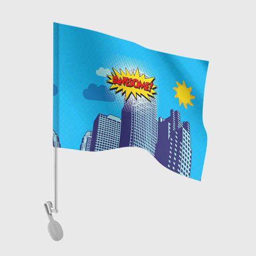 Флаг для автомобиля Поп-арт 2 Фото 01