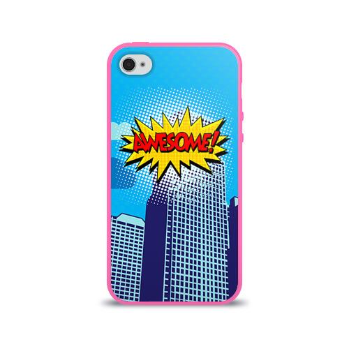 Чехол для Apple iPhone 4/4S силиконовый глянцевый Поп-арт 2 Фото 01