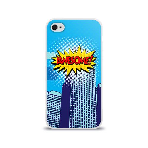 Чехол для Apple iPhone 4/4S силиконовый глянцевый  Фото 01, Поп-арт 2