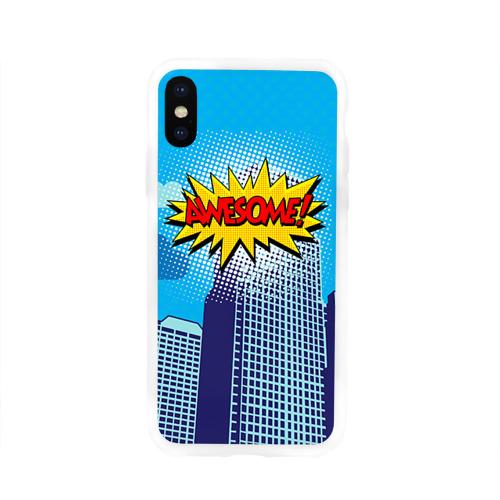 Чехол для Apple iPhone X силиконовый глянцевый  Фото 01, Поп-арт 2