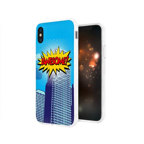 Чехол для Apple iPhone X силиконовый глянцевый  Фото 03, Поп-арт 2