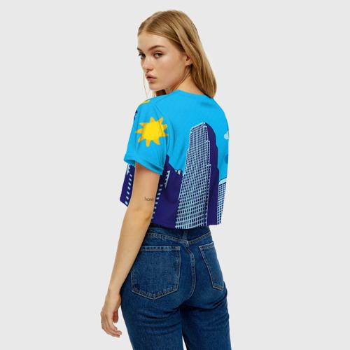 Женская футболка Crop-top 3D Поп-арт 2 Фото 01