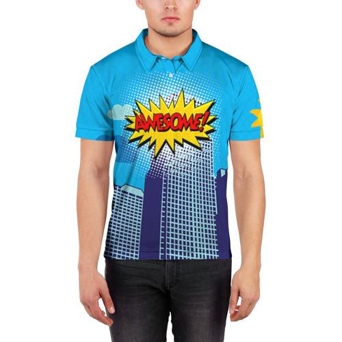 Мужская рубашка поло 3D Поп-арт 2 Фото 01