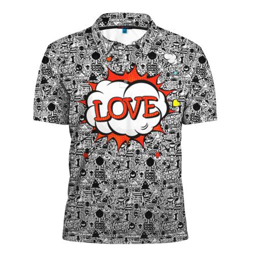 Мужская рубашка поло 3D Поп-арт 3