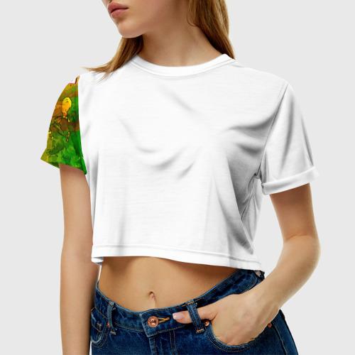 Женская футболка 3D укороченная  Фото 01, Поп-арт 4