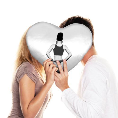 Подушка 3D сердце  Фото 03, Стоящая спиной