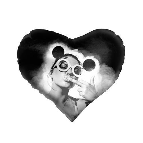 Подушка 3D сердце  Фото 01, Девушка в очках