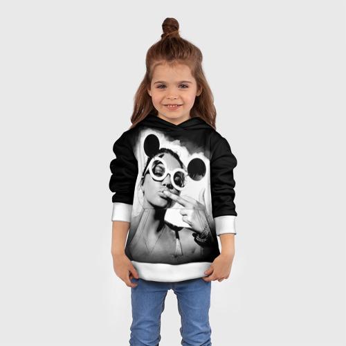 Детская толстовка 3D Девушка в очках