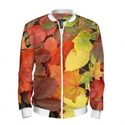 Мужской бомбер 3D  Фото 01, Осенние листья