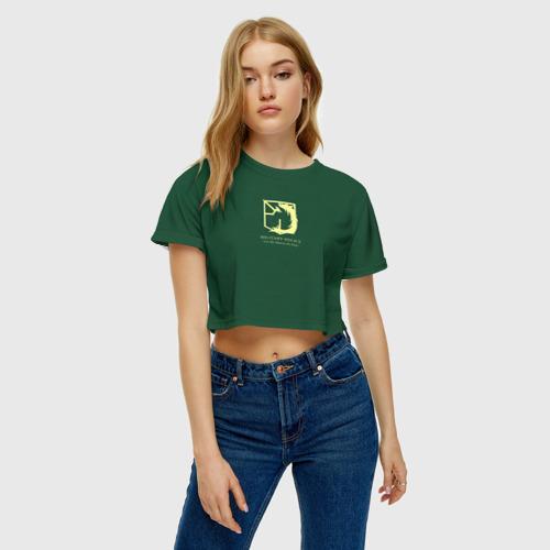Женская футболка 3D укороченная  Фото 04, Атака титанов, Полиция