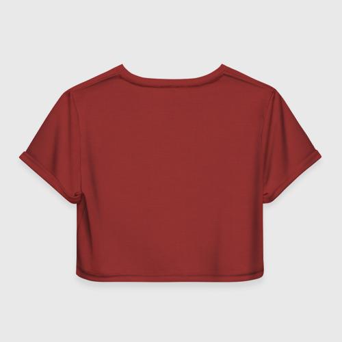 Женская футболка 3D укороченная  Фото 02, Разведотряд