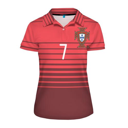 Женская рубашка поло 3D Роналду сборная Португалии