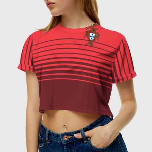 Женская футболка 3D укороченная  Фото 01, Сборная Португалии по футболу