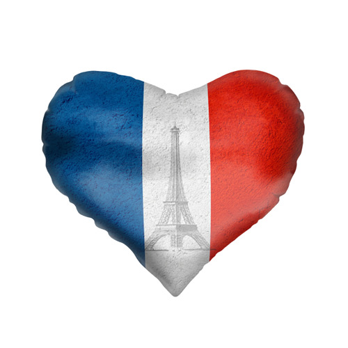 Подушка 3D сердце  Фото 01, Франция