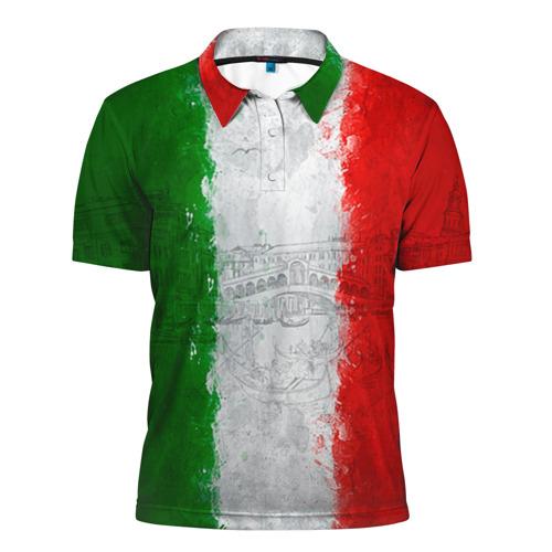 Мужская рубашка поло 3D Италия