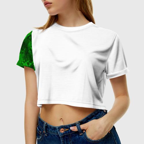 Женская футболка 3D укороченная  Фото 01, Бразилия