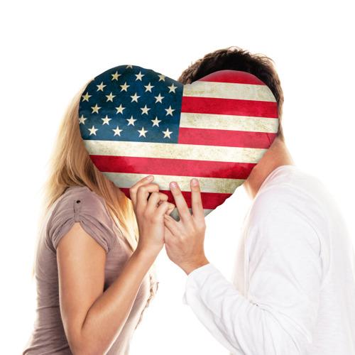 Подушка 3D сердце  Фото 03, США