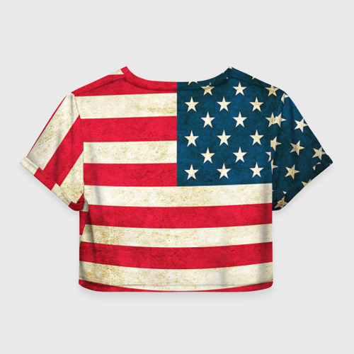 Женская футболка 3D укороченная  Фото 02, США