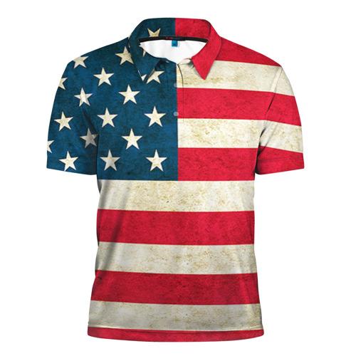 Мужская рубашка поло 3D США