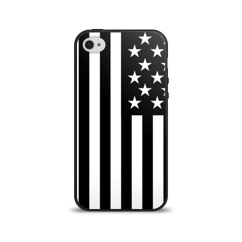Чехол для Apple iPhone 4/4S силиконовый глянцевый USA от Всемайки