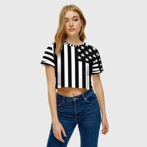 Женская футболка 3D укороченная  Фото 04, USA