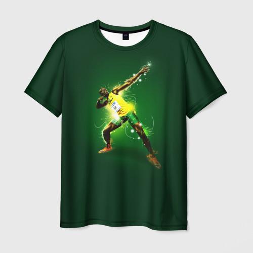 Мужская футболка 3D  Фото 03, Usain Bolt