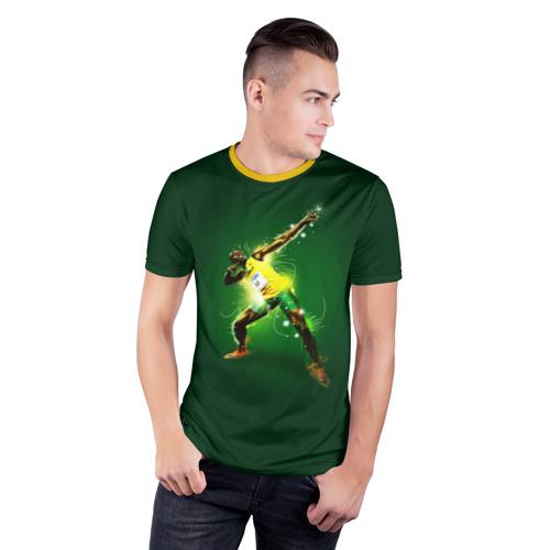 Мужская футболка 3D спортивная Usain Bolt Фото 01
