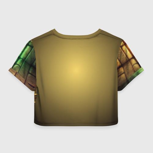 Женская футболка 3D укороченная  Фото 02, DOOM classic
