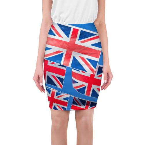 Юбка 3D Британские флаги