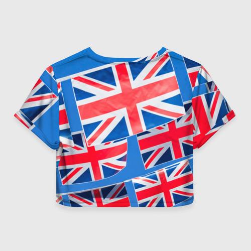 Женская футболка 3D укороченная  Фото 02, Британские флаги