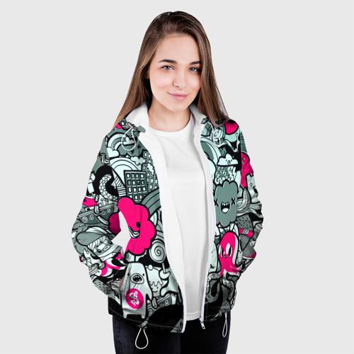 Женская куртка 3D  Фото 04, sticker bombing