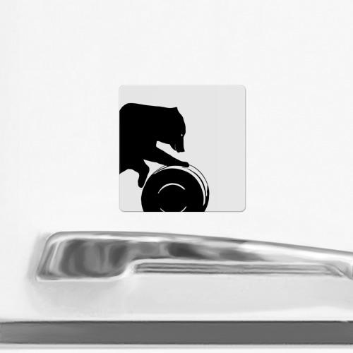 Магнит виниловый Квадрат  Фото 02, Нефть-матушка (магниты)