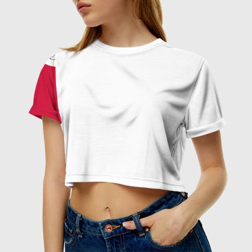 Женская футболка 3D укороченная  Фото 01, BULLS