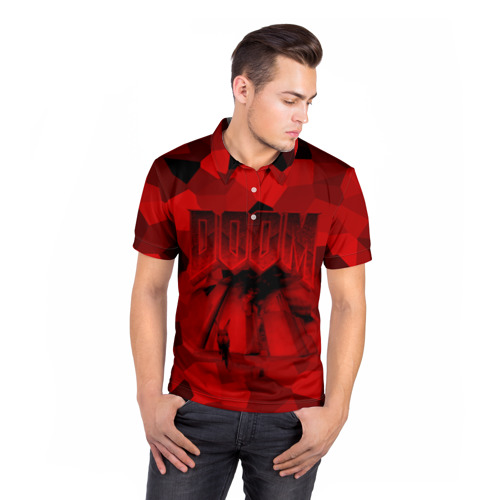 Мужская рубашка поло 3D  Фото 05, Doom classic 3