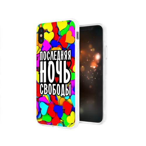 Чехол для Apple iPhone X силиконовый глянцевый  Фото 03, Последняя ночь свободы