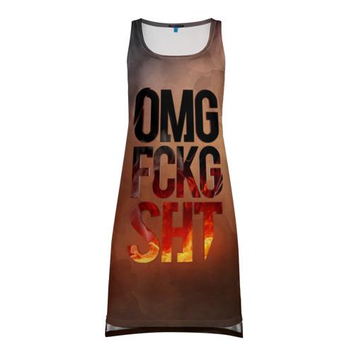 Платье-майка 3D OMG FCKG SHT