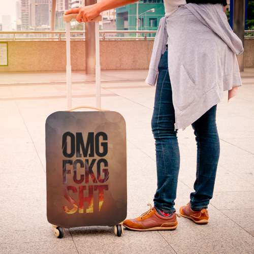 Чехол для чемодана 3D  Фото 04, OMG FCKG SHT