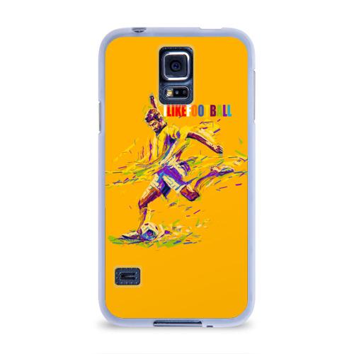 Чехол для Samsung Galaxy S5 силиконовый  Фото 01, I like football