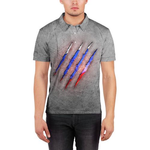 Мужская рубашка поло 3D  Фото 03, Русский изнутри