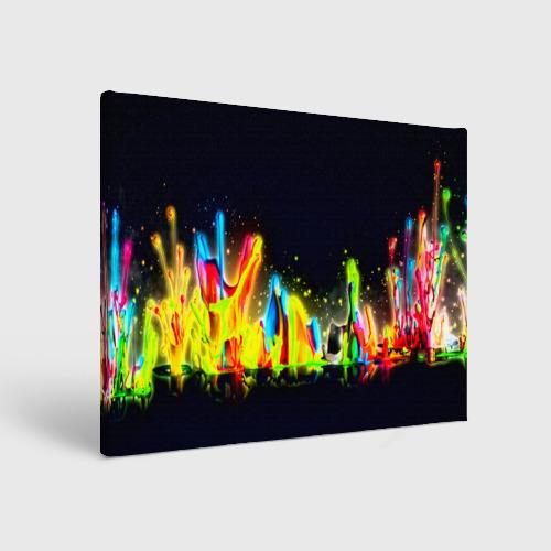 Холст прямоугольный  Фото 01, Взрыв красок