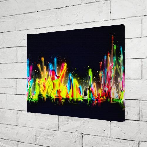 Холст прямоугольный  Фото 03, Взрыв красок