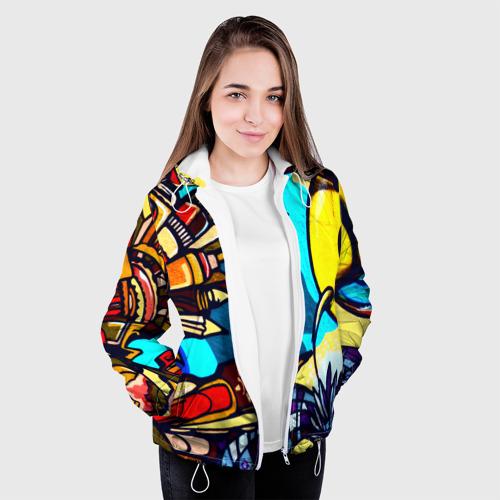Женская куртка 3D Граффити Фото 01